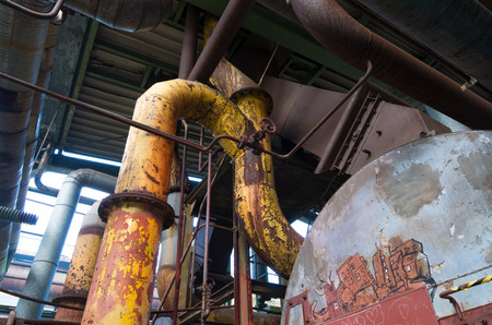 corrosion: The Landschaftspark Duisburg-Nord is a public park in the German city of Duisburg. The centerpiece of the park is formed by the ruins of a blast furnace complex shut down in 1985.