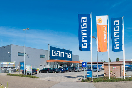 improvment: OLDENZAAL, NETHERLANDS - AUGUST 1, 2015: Exterior of the GAMMA do-it-yourself market. The first Gamma DIY store opened its doors on May 11, 1971 in Breda.