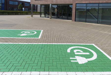 parking station: parking place and charging station for electric cars