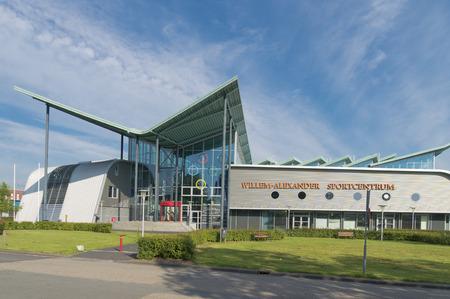 olympic national park: GRONINGEN, NETHERLANDS - AUGUST 22, 2015: Willem-Alexander sports center exterior of the groningen university.