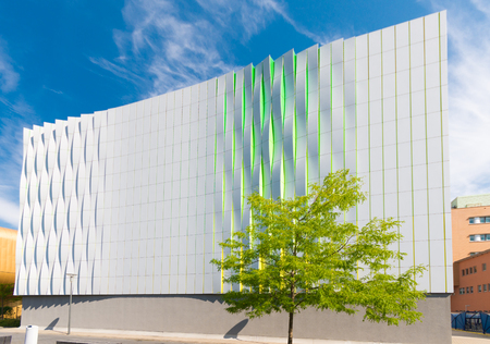 artful: GRONINGEN, NETHERLANDS - AUGUST 22, 2015: Exterior of a modern building of the UMCG, the medical center of the groningen university Editorial
