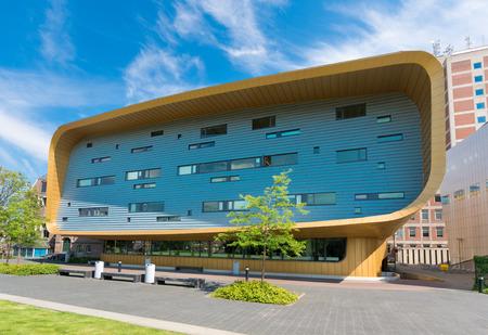 groningen: GRONINGEN, NETHERLANDS - AUGUST 22, 2015: Exterior of the training center of the UMCG, the university medical center of groningen