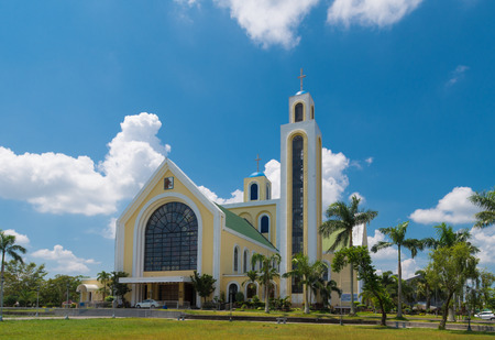 country church: Our lady of penafrancia church in naga city, philippines. The Image of Our Lady of Penafrancia is enshrined in her sanctuary at the Basilica Minore Stock Photo