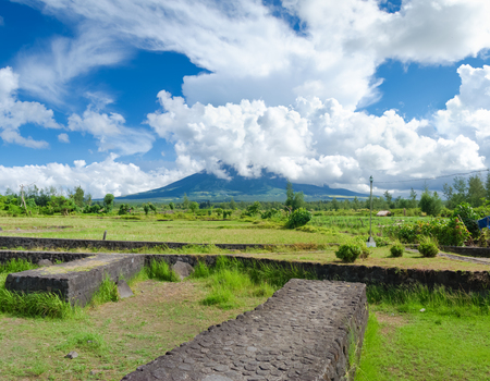 mayon: Mayon is a classic stratovolcano (composite) type of volcano with a small central summit crater. The cone is considered the worlds most perfectly formed volcano for its symmetry