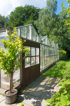 non: small non commercial greenhouse exterior
