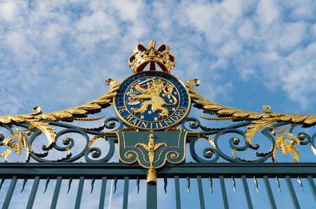 orange nassau: Gate with Royal Dutch emblem of the Noordeinde Palace in The Hague, Netherlands