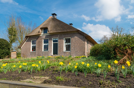 dutch typical: typical dutch country house in Giethoorn, the Netherlands
