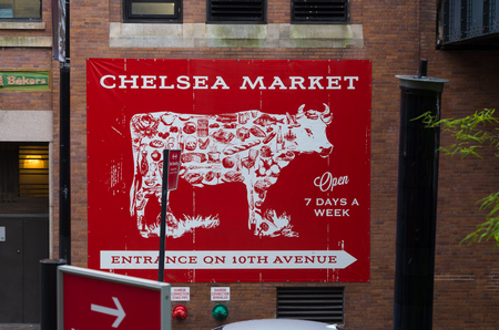 chelsea market: Chelsea market directional sign in Chelsea, New York
