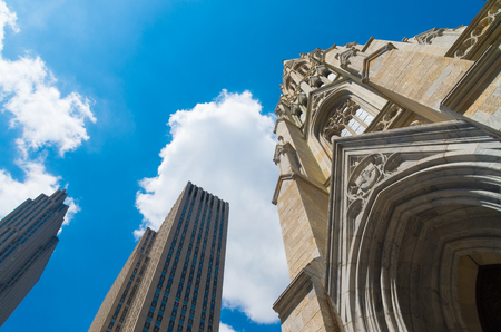 exterior of St. Patricks cathedral on fifth avenue in manhattan.