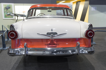 lelystad: LELYSTAD, NETHERLANDS - MAY 15, 2016: Ford Fairlane classic car in the aviodrome aerospace museum Editorial