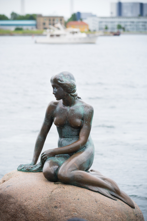 The Little Mermaid (Danish: Den lille Havfrue) is a bronze statue by Edvard Eriksen, depicting a mermaid.
