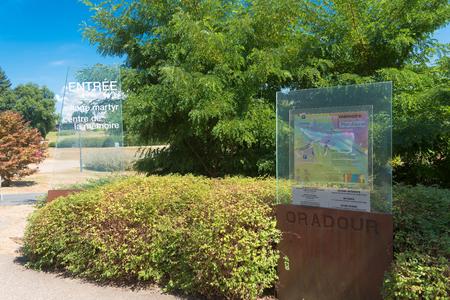 nazis: ORADOUR SUR GLANE, FRANCE - AUGUST 15, 2016: Memorial center of Oradour-sur-glane, the by the nazis destroyed french village in WW2 Editorial