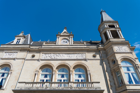 ville: LUXEMBOURG CITY - AUGUST 12, 2016: The Cercle Municipal or Cercle-Cité is a building located at the eastern end of the Place dArmes