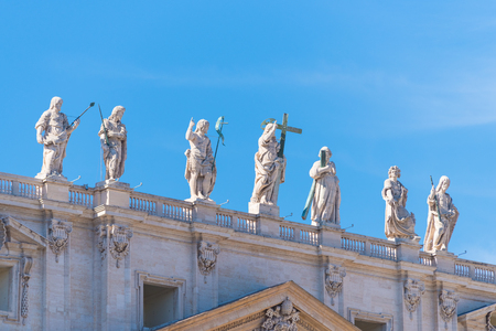 exterior of the famous st peters basilica in vatican city Editorial