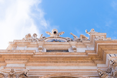 exterior of the famous st peters basilica in vatican city Stock Photo