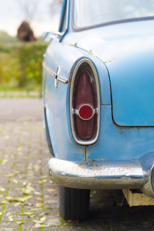 THORN, NETHERLANDS - NOVEMBER 6, 2016: Rear view of a rare Simca Aronde Etoile from 1961. It is a model produced by the French car manufacturer Simca between 1951 and 1964 Stock Photo