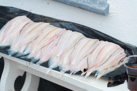 fresh fish for sale in a dutch fisherman`s village Reklamní fotografie