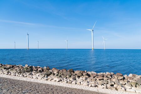 offshore windmill park in the Netherlands