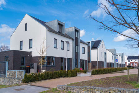newly built residential area in the netherlands Stock Photo