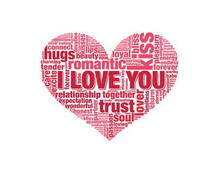 i mate: Word Heart illustration