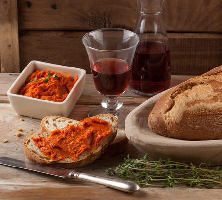 Nduja o sobrasada propagación carne Mediterráneo. Foto de archivo - 40922529