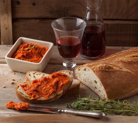 Nduja o sobrasada propagación carne Mediterráneo. Foto de archivo - 40922530