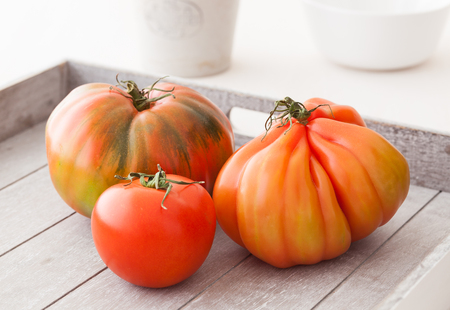 corazon: Three different organic tomatoes from Spain.
