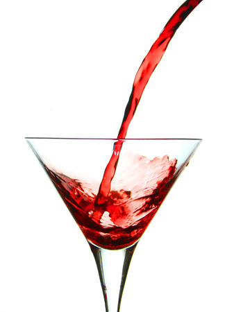vermouth: Pouring vermouth in a glass