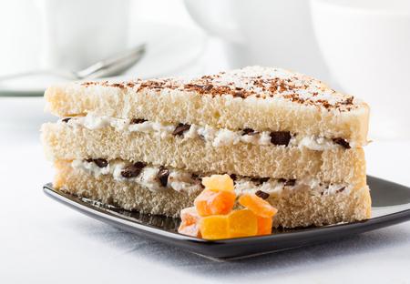 chunks: A sweet layered sandwich with ricotta cheese and chocolate chunks