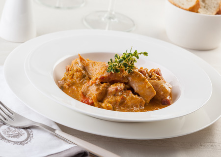 Delicious Hungarian chicken goulash