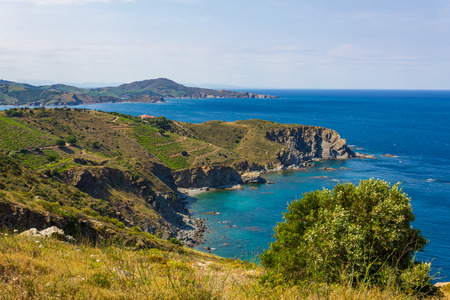 vermilion coast: View over Cap lAbeille a cape located between Banyuls-sur-Mer and Cerbere. This area is a marine nature reserve, favorite for scuba diving.