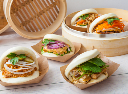 Bao sandwich, Asian street food