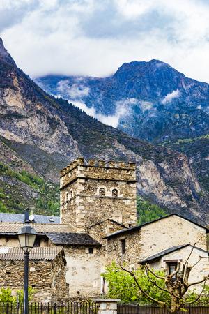 Village of Benasque. Huesca. Arag�n. Spain Stock Photo