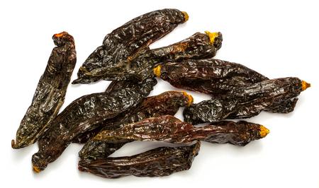 bolivian: Dried aji panca peppers from Peru, South America Stock Photo