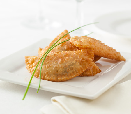 Empanadas, typical food from Spain and South America 免版税图像