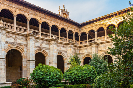Cloister of the San Marcos monastery in León, Spain