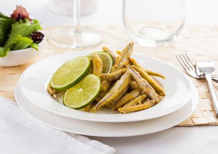 Pescaito frito. Typical Spanish fried fish dish.