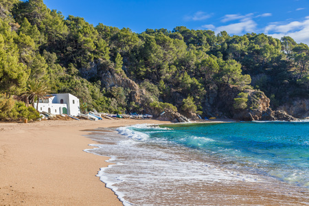 Costa Brava, Spain. Beach of Cala Canyelles between Lloret and Tossa. Reklamní fotografie