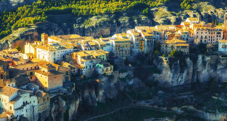 View over the old town of Cuenca situated on the top of the rocks, Castilla La Mancha, Spain Reklamní fotografie
