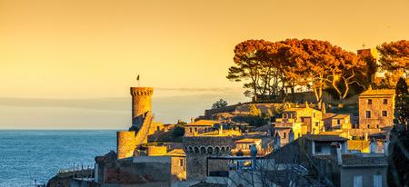 Ancient town of Tossa de Mar on the Costa Brava coast in Spain.