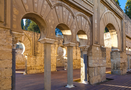 The ruins of Medina Azahara, a fortified Arab Muslim medieval palace-city near Cordoba, Spain Banque d'images - 113456751