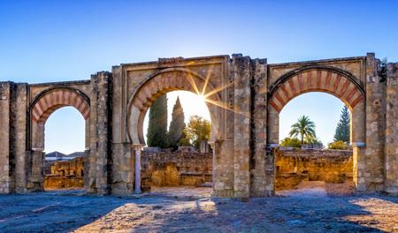 The ruins of Medina Azahara, a fortified Arab Muslim medieval palace-city near Cordoba, Spain Stock Photo