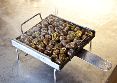 Snails from the barbecue, in Catalan Cargols a la Llauna.