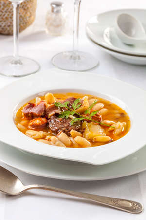 Fabada is a typical stew dish from the Asturias region in Spain