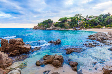Costa Brava bay and beach with turquoise waters.