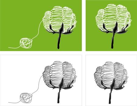 gomitoli di lana: filati di cotone idrofilo