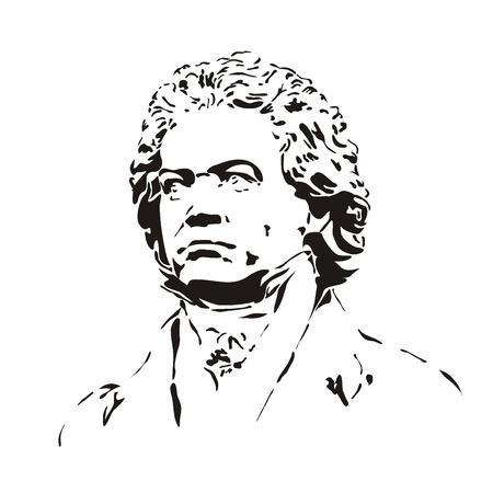 Büste von Beethoven Lizenzfreie Bilder