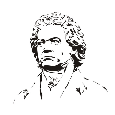 beethoven: bust of beethoven