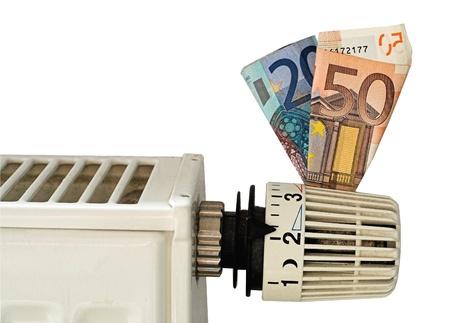 heater bill Standard-Bild