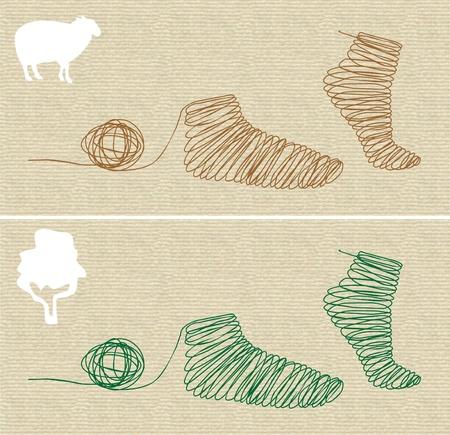 Socken Standard-Bild - 9826507